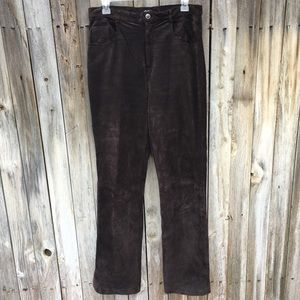 Vintage XOXO High Rise Suede Pants Brown 11